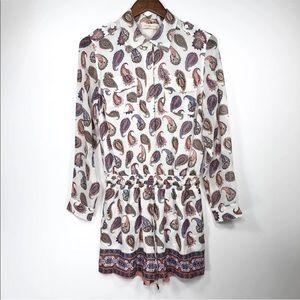 22b1a3c63add Tory Burch Pants - Tory Burch Romper Brigitte Paisley Print Silk